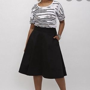Lane Bryant Modernist Black A Line Skirt Size 20